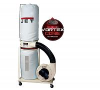 Jet DC-1100VX-5M Dust Collector, 1.5HP 1PH 115/230V, 5-Micron Bag Filter Kit