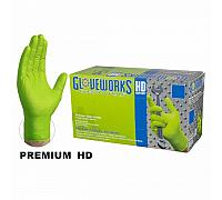 Ammex Gloveworks HD Industrial Grade Green Diamond Textured 8 Mil Nitrile Gloves (1000Pcs)