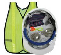 New Hire Kit - Helmet, Glasses, Gloves, Ear Plugs and Vest