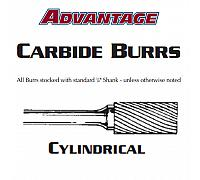"Carbide Burr - Cylindrical Double Cut SA-43 - 1/8"" x 9/16"""