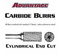 "Carbide Burr - Cylindrical End Cut Aluminum Cut SB-3 - 3/8"" x 3/4"""
