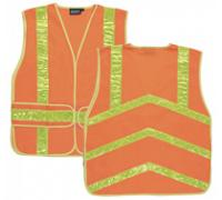 S104 Chevron Class 2 OSFA Orange Vest