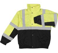 Class 2 Lime/Black Bomber Jacket - Medium