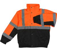 Class 2 Orange/Black Bomber Jacket - 2X Large