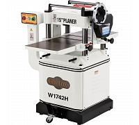 "W1742H—3 HP 15"" Planer with Cast Iron Wings & Mobile Base and Helical Cutterhead"